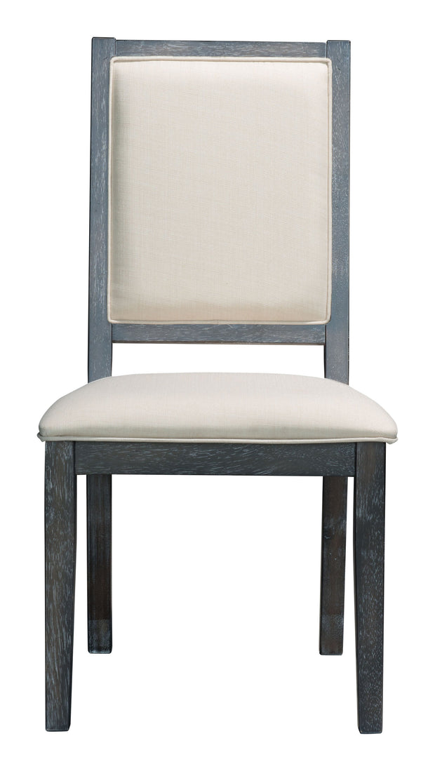 Skyline Dining Chair Gray is From the Indoor Collection designed in Rubber Wood & Poly Linen and Knotty Oak Veneer. Skyline Collection part of the Chairs, Stools set.