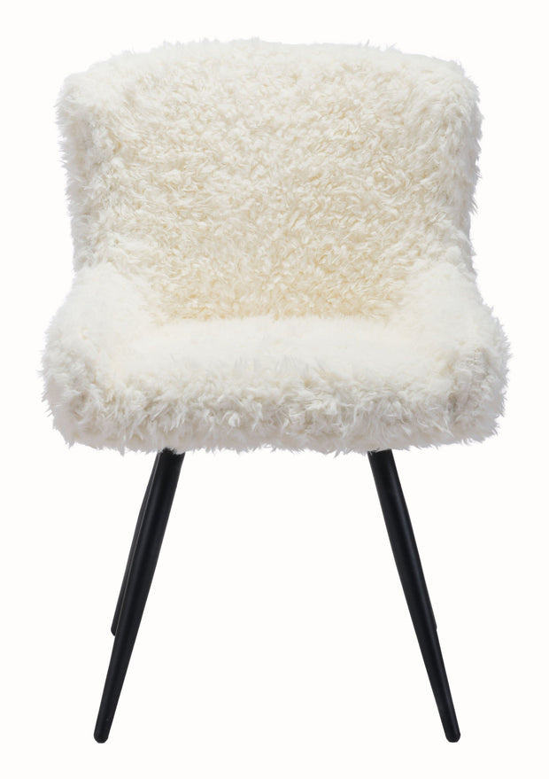 Coco Dining Chair Ivory is From the Indoor Collection designed in Metal and Sherpa Faux Fur. Coco Collection part of the Chairs, Stools,Chairs set.