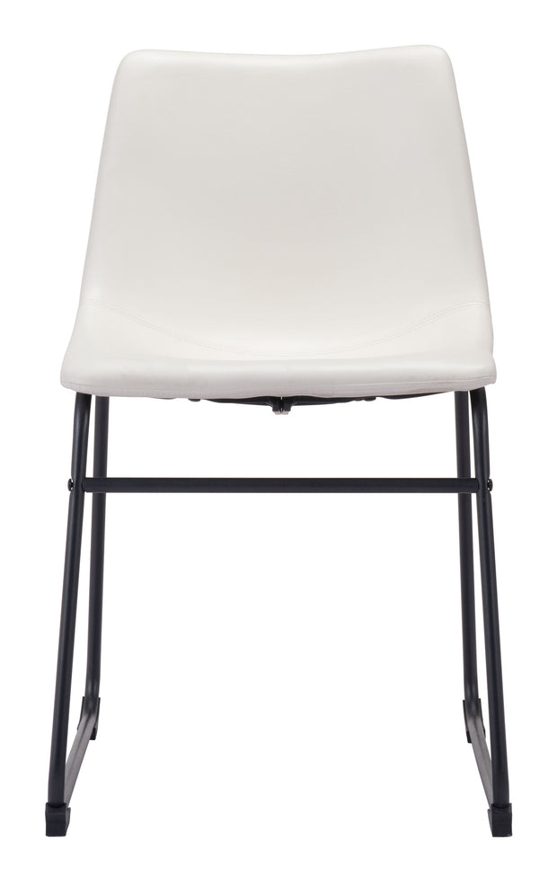 Smart Dining Chair Distressed White is From the Indoor Collection designed in Steel and Leatherette. Smart Collection part of the Chairs, Stools set.