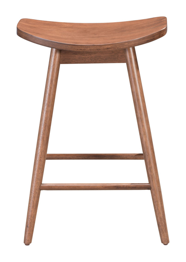 Trinity Counter Stool Walnut From the Indoor Collection designed in Rubberwood and Wood Veneer. Trinity Collection part of the Chairs, Stools set.