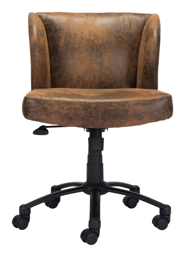 Shaw Office Chair Brown From the Indoor Collection designed in Black Painted Steel Base and Poly Linen. Shaw Collection part of the Chairs set.