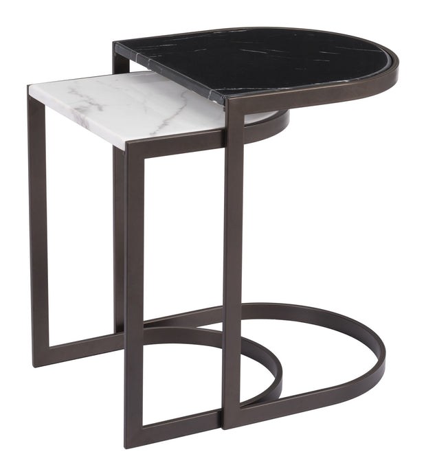 Stanton Nesting End Tables From the Indoor Collection designed in Steel & Faux Marble . Stanton Collection part of the Coffee, Side, Consoles set.