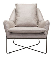 Finn Lounge Chair Distressed Gray From the Indoor Collection designed in Steel and Leatherette. Finn Collection part of the Chairs set.