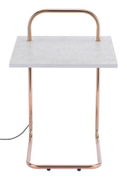 Essex Wireless Charging Side Table From the Indoor Collection designed in Steel and Formica. Essex Collection part of the Coffee, Side, Consoles set.