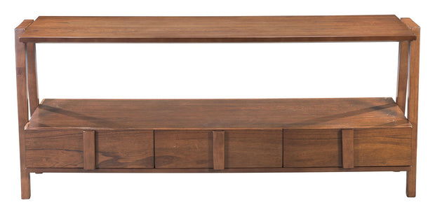 Graham Media Console Table Walnut From the Indoor Collection designed in MDF, Plywood, Rubber Wood and Mini Veneer. Graham Collection part of the Coffee, Side, Consoles set.