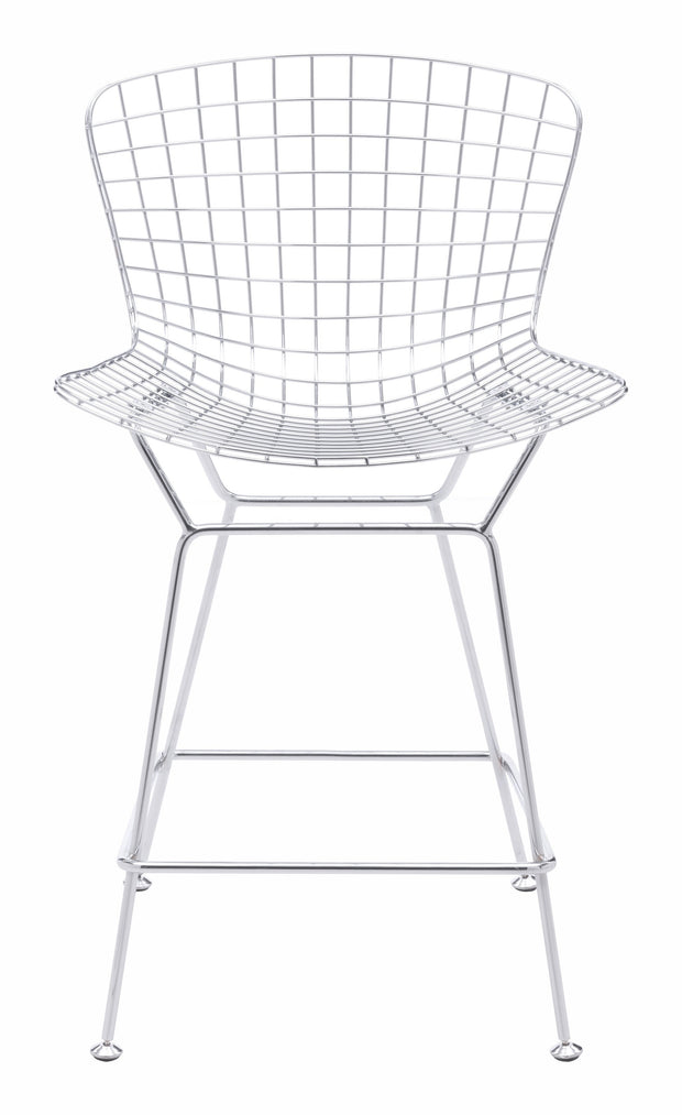Wire Counter Chair Chrome is From the Indoor Collection designed in Chromed Steel . Wire Collection part of the Chairs, Stools set.