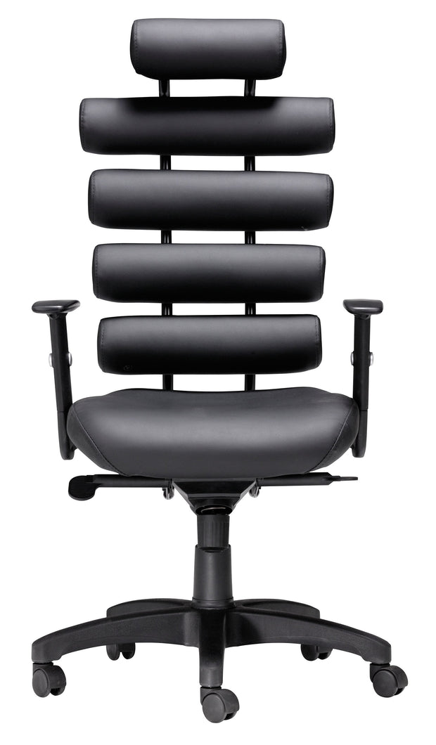 Unico Office Chair Black is From the Indoor Collection designed in Painted Metal and Leatherette. Unico Collection part of the Chairs set.