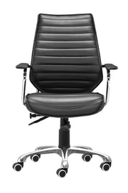 Enterprise Low Back Office Chair Black is From the Indoor Collection designed in Chromed Steel and Leatherette. Enterprise Collection part of the Chairs set.