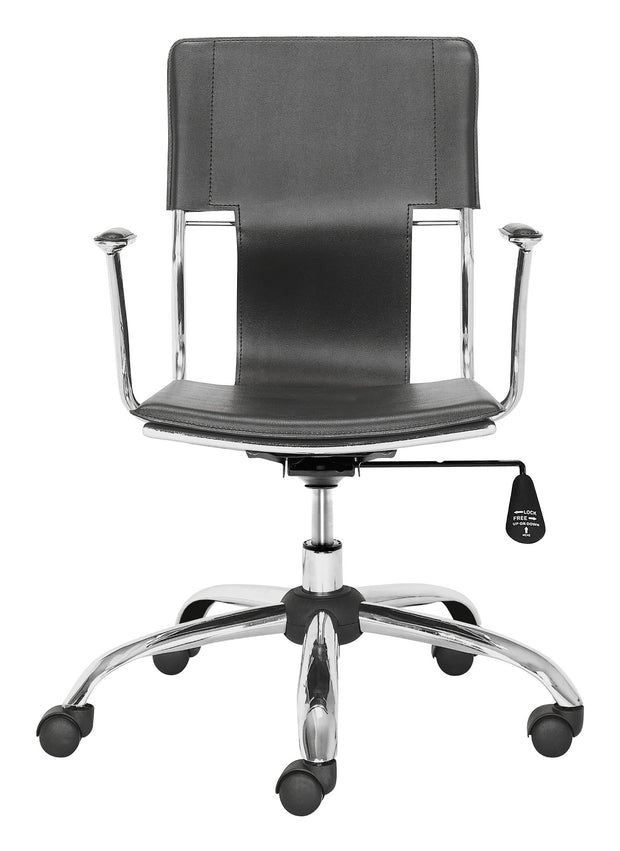 Trafico Office Chair Black is From the Indoor Collection designed in Chromed Steel and Leatherette. Trafico Collection part of the Chairs set.