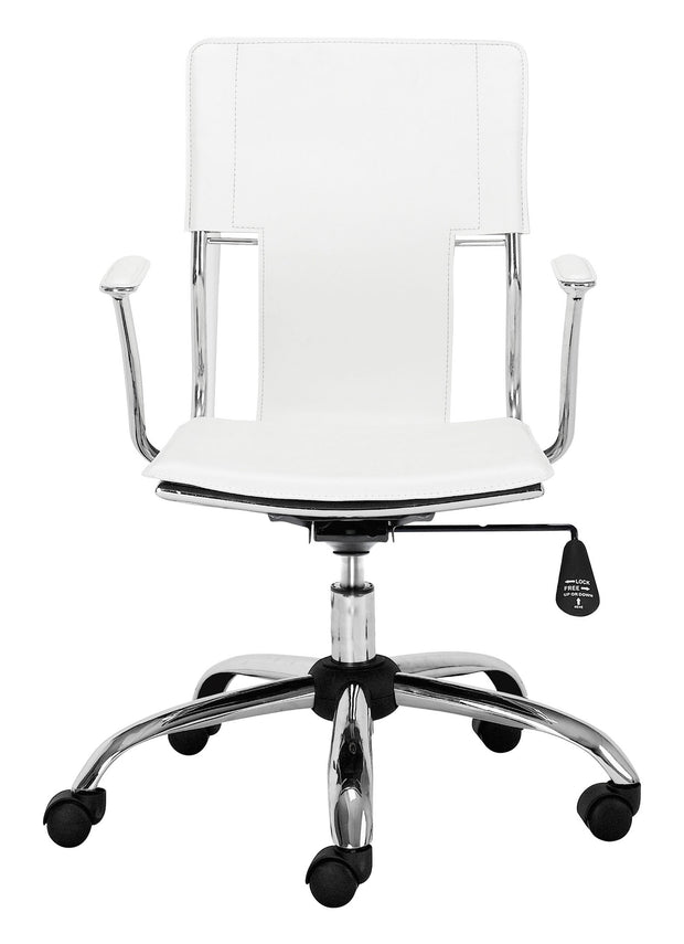 Trafico Office Chair White is From the Indoor Collection designed in Chromed Steel and Leatherette. Trafico Collection part of the Chairs set.