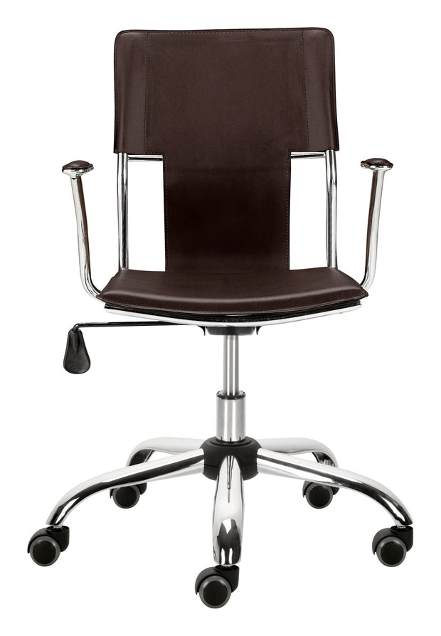 Trafico Office Chair Espresso is From the Indoor Collection designed in Chromed Steel and Leatherette. Trafico Collection part of the Chairs set.