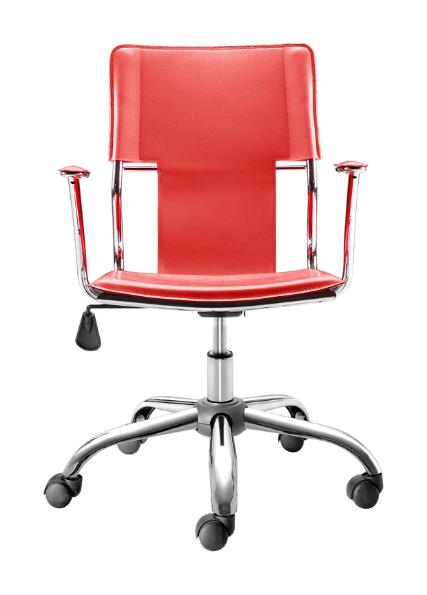 Trafico Office Chair Red is From the Indoor Collection designed in Chromed Steel and Leatherette. Trafico Collection part of the Chairs set.