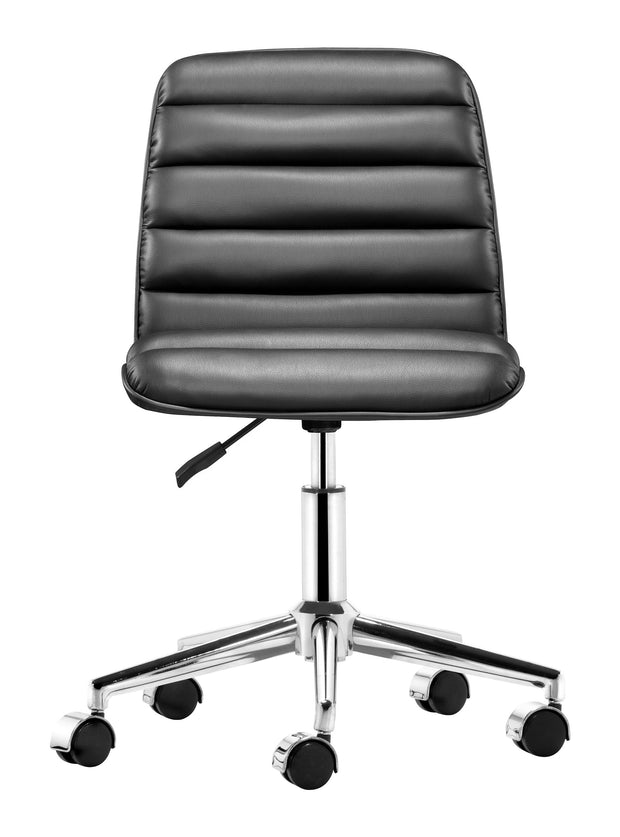 Admire Office Chair Black is From the Indoor Collection designed in Chromed Steel and Leatherette. Admire Collection part of the Chairs set.