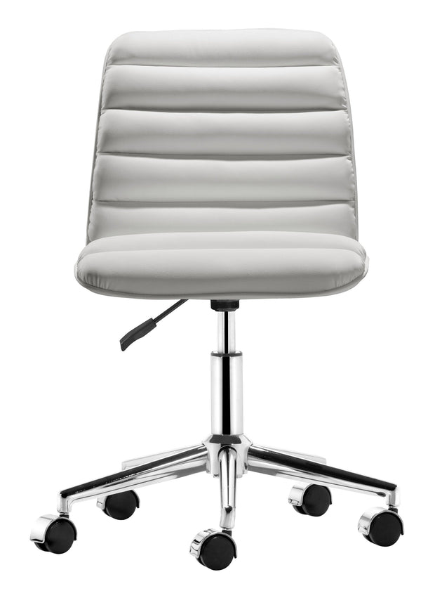 Admire Office Chair White is From the Indoor Collection designed in Chromed Steel and Leatherette. Admire Collection part of the Chairs set.