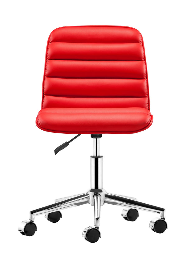 Admire Office Chair Red is From the Indoor Collection designed in Chromed Steel and Leatherette. Admire Collection part of the Chairs set.