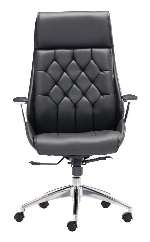Boutique Office Chair Black is From the Indoor Collection designed in Chromed Steel and Leatherette. Boutique Collection part of the Chairs set.