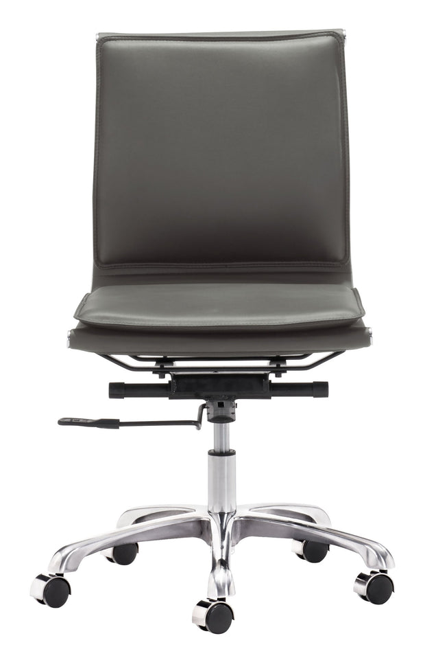 Lider Plus Armless Office Chair Gray is From the Indoor Collection designed in Chromed Steel and Leatherette. Lider Plus Collection part of the Chairs set.