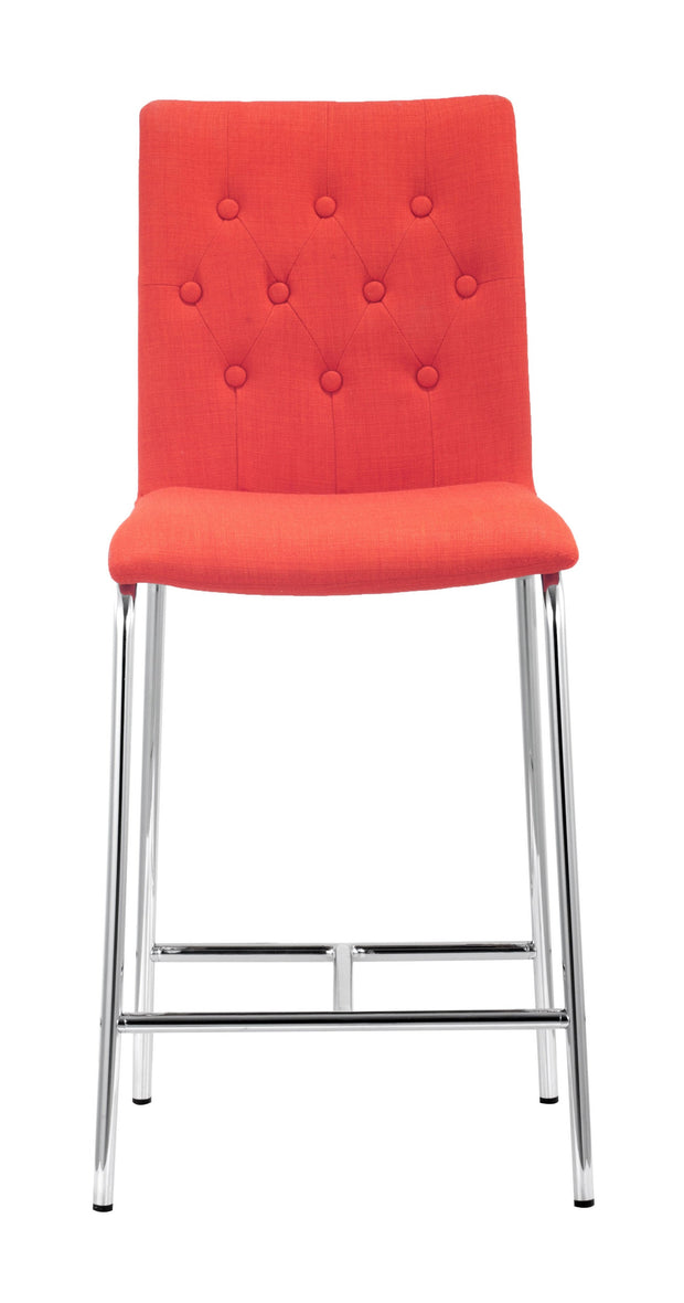 Uppsala Counter Chair Tangerine is From the Indoor Collection designed in Chromed Steel and Polyblend. Uppsala Collection part of the Chairs, Stools set.