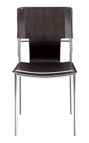 Trafico Dining Chair Espresso is From the Indoor Collection designed in Chromed Steel and Leatherette. Trafico Collection part of the Chairs, Stools set.