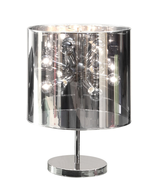 Supernova Table Lamp From the Lighting Collection in Chrome with In-line Switch. Supernova Table Lamps bulb type is G45 with Max bulb watt at 25W with socket size E12