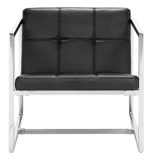 Carbon Chair Black is From the Indoor Collection designed in Chromed Steel and Leatherette. Carbon Collection part of the Chairs set.