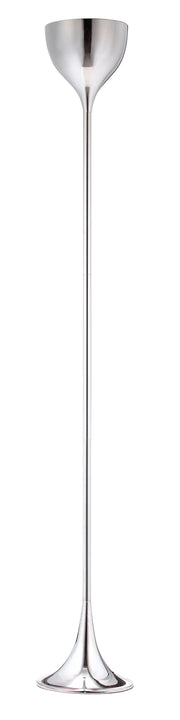 Neutrino Floor Lamp From the Lighting Collection in Chrome with Foot Switch. Neutrino Floor Lamps bulb type is Type A19 with Max bulb watt at 100W with socket size E26