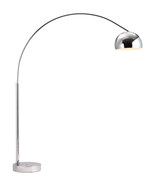 Galactic Floor Lamp From the Lighting Collection in Chrome with Foot Switch. Galactic Floor Lamps bulb type is Type A19 with Max bulb watt at 100W with socket size E26