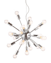 Pulsar Ceiling Lamp From the Lighting Collection in Chrome . Pulsar Ceiling Lamps bulb type is G45 with Max bulb watt at 25W with socket size E12