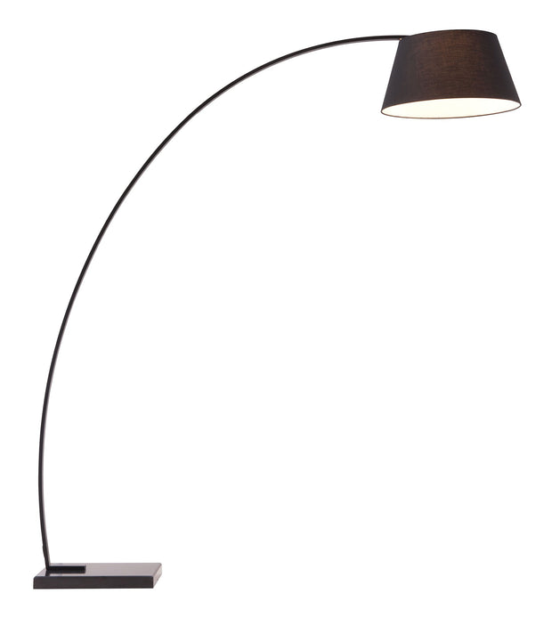 Vortex Floor Lamp - Black From the Lighting Collection in Black Metal & Marble with Foot Switch. Vortex Floor Lamps bulb type is Type A19 with Max bulb watt at 100W with socket size E26