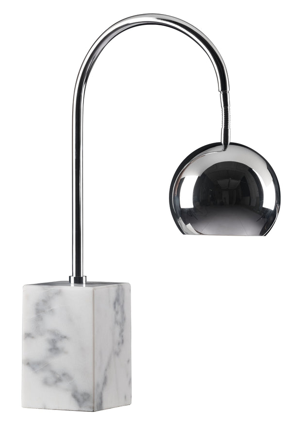 Run Table Lamp From the Lighting Collection in Marble with In-line Switch. Run Table Lamps bulb type is G45 with Max bulb watt at 40W with socket size E12
