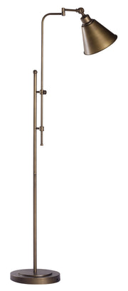 Rush Floor Lamp From the Lighting Collection in Metal with In-line Switch. Rush Floor Lamps bulb type is Type A19 Frosted White with Max bulb watt at 60W with socket size E26
