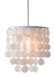 Shell Ceiling Lamp White From the Lighting Collection in Painted Metal . Shell Ceiling Lamps bulb type is Type A19 with Max bulb watt at 60W with socket size E26