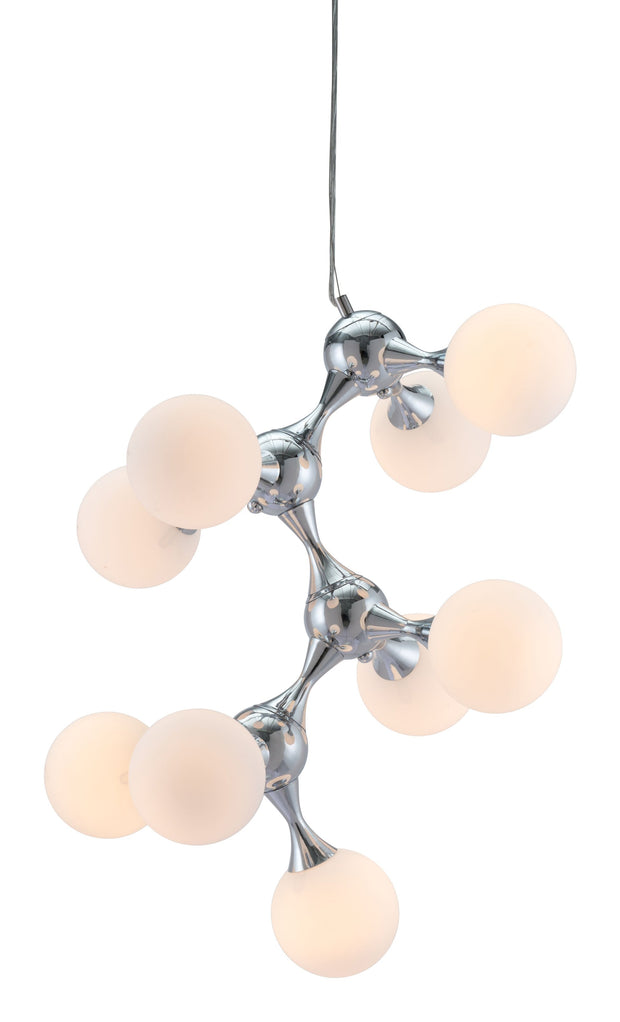 Pomegranate Ceiling Lamp White & Chrome From the Lighting Collection in Metal . Pomegranate Ceiling Lamps bulb type is G50 with Max bulb watt at 40W with socket size E12
