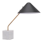 Pike Table Lamp Black From the Lighting Collection in Steel & Marble with IN-LINE, SUIT DIMMER. Pike Table Lamps bulb type is G50 with Max bulb watt at 40W with socket size E12