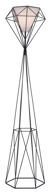 Delancey Floor Lamp Black From the Lighting Collection in Steel with FOOT, SUIT DIMMER. Delancey Floor Lamps bulb type is A19 with Max bulb watt at 60W with socket size E26