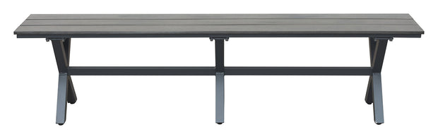 Bodega Bench Ind. Gray & Brown is From the Outdoor Collection designed in Aluminum Frame and Polywood. Bodega Collection part of the Benches set.