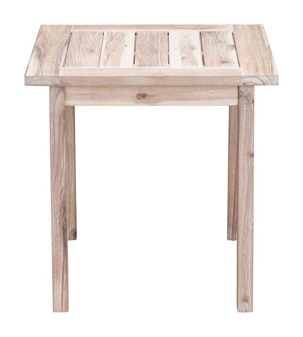 South Port End Table White Wash is From the Outdoor Collection designed in Acacia Wood . South Port Collection part of the Outdoor set.