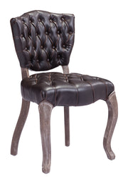 Leavenworth Dining Chair Brown is From the Indoor Collection designed in Oak Wood and Leatherette. Leavenworth Collection part of the Chairs, Stools set.