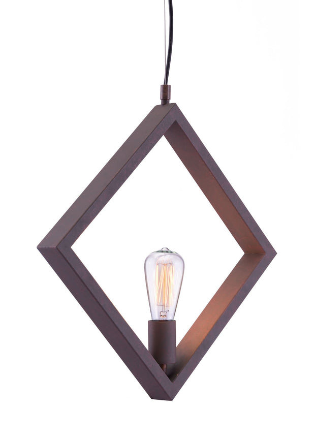 Rotorura Ceiling Lamp Rust From the Lighting Collection in Metal . Rotorura Ceiling Lamps bulb type is Type ST64 with Max bulb watt at 40W with socket size E26