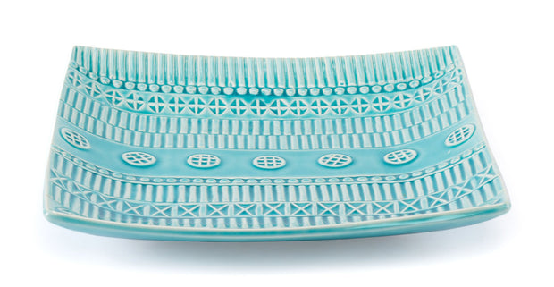 Tribal Plate Blue