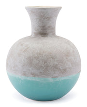 Azte Medium Vase Gray & Teal