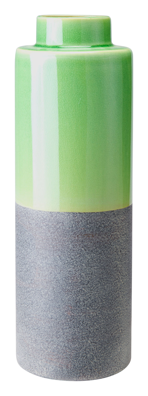 Stoneware Bottle Medium Green &  Gray