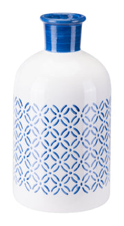 Bottle Small Steel Blue And White
