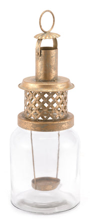 Steam Lantern Large Antique Gold