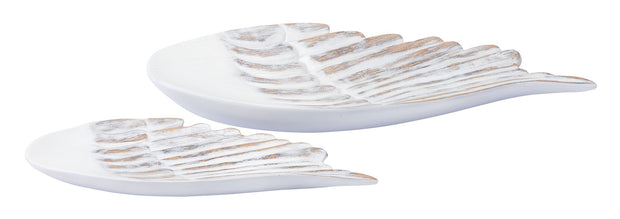 White Poly Wings Small