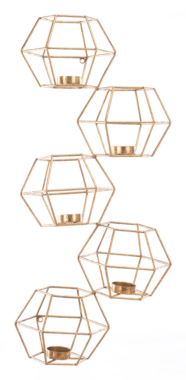 Set of 5 Wall Candle Holder
