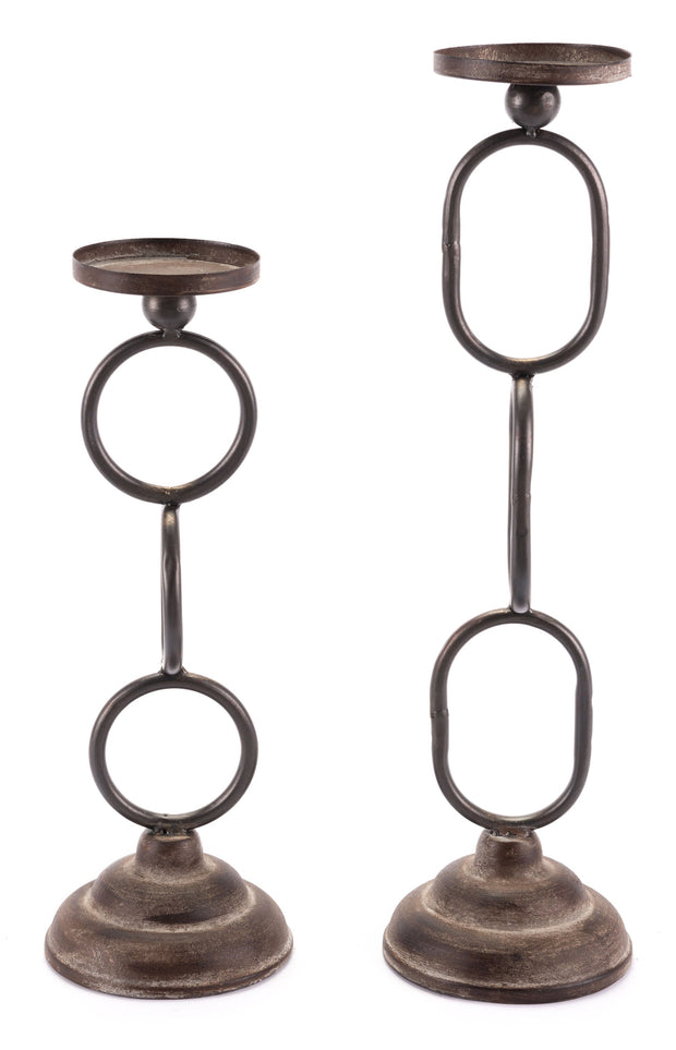 Set of 2 Chain Candle Holders