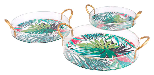 Tropical Set of 3 Trays