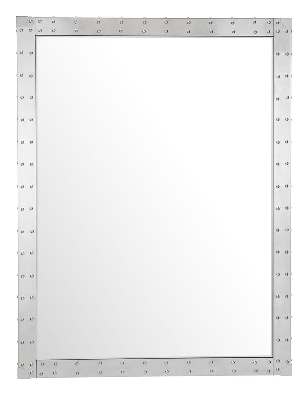 Studded Rectangular Mirror Clear