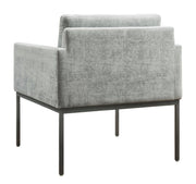 Canton Grey Velvet Chair